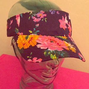 Floral Print Visor.  20  0. Size  OS. The Accessory Collective 41f590ce0e8b